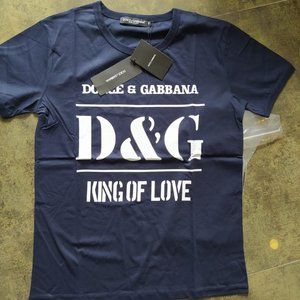 Dolce&Gabbana Men's Casual T-Shirt Blue